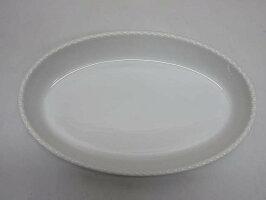 【中古】大皿オーバル32cm楕円食器洋食器ビュッフェ業務用テーブルウェア製菓パーティーオードブル白