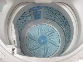 【中古】東芝全自動洗濯機AW-5G55kgホワイト系TOSHIBA洗濯機白節水パワフル浸透洗浄Wセンサーすすぎ1回設定部屋干しモード