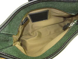 【中古】美品COACHハンドバッグFOJ-7762グリーン緑コーチ鞄カバンバッグファッション小物お洒落