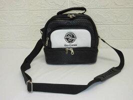 6060【中古】SIAMCOUNTRYCLUBゴルフ用ショルダーバッグ2層式OLDCOURSE黒白ブラックホワイトカバン鞄ゴルフ用品