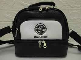 60【中古】SIAMCOUNTRYCLUBゴルフ用ショルダーバッグ2層式OLDCOURSE黒白ブラックホワイトカバン鞄ゴルフ用品