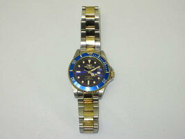 宅コン【中古】テクノス腕時計TAM629ブルー&ゴールドSWISSTECHNOS時計メンズスイス10気圧防水日付表示回転ベゼル