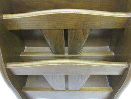 【中古】森のサーカスマガジンラック2段ブラウン木製雑誌収納新聞入れ冊子コンパクト小物入れ収納箱