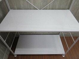 【中古】無印良品スチールユニットシェルフワードローブ3段良品計画MUJI棚板3枚ライトグレーオープンシェルフハンガーラックフリーラック金属製幅86cmワイド