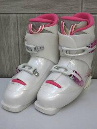100【中古】ハートスキーブーツジュニア24cmホワイト×ピンクHartスキーブーツスキー靴くつ日本製DIVAF5ウィンタースポーツ子供用女の子キッズ白