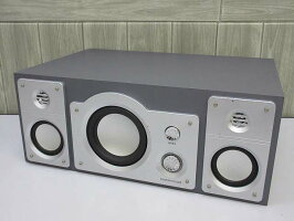 120【中古】リアルホームシアタースピーカーRW-8000REALALL-IN-ONE2.1chシルバースピーカーウーハーウーファー重低音臨場感音響システム