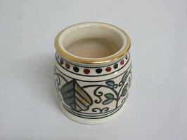 【未使用品】井川和夫蓋置共箱入り燦光窯色絵京焼き和夫造茶道具お茶抹茶茶道