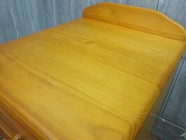 【中古】ナイトテーブルナチュラル引出3杯木製ベッドサイドサイドキャビネットサイドテーブルチェスト寝室収納袖机作業台ニトリ