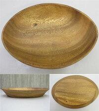 【未使用品】木製プレート2枚セット大皿楕円オーバル天然木ウッドプレートウッドディッシュ食器木目木器カフェ風おしゃれエッグ型lupa