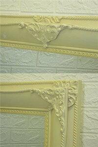 【中古】ウォールミラーアイボリー洋風彫刻一面鏡鏡クリーム色壁掛けインテリアディスプレイ