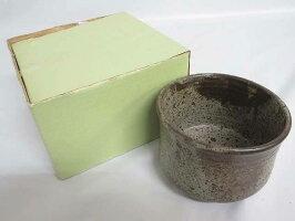 60【未使用品】相馬焼建水元箱付陶器製茶道具こぼし碗型茶こぼし