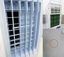 【中古】ジャストネオ冷風扇JSTN-MR-19ホワイト扇風機キャスター付きスリムタワーコンパクトブルー水タンク5L小型白風量3段階調整取扱説明書付き