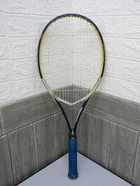 120【中古】フォルクルテニスラケットブイエンジン黄×青VOLKLV-ENGINECATAPULTブルー硬式テニス用品
