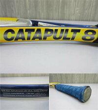 【中古】フォルクルテニスラケットブイエンジン黄×青VOLKLV-ENGINECATAPULTブルー硬式テニス用品
