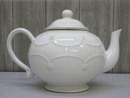 【中古】ジュリスカティーポットホワイト2L洋風お茶JuliskaBERRY&THREADコレクションハンドメイド白洋食器陶器ポルトガル製