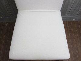 【中古】無印良品チェア生成カバー付きアイボリー良品計画MUJIクッションチェア椅子イス木脚シンプルナチュラルダイニングパーソナル一人掛け