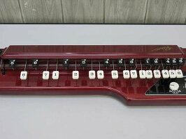 140【中古】スズキ電気大正琴蘭ソプラノ27鍵5弦SUZUKIハードケース付き木製弦楽器和楽器伝統楽器ハープ楽器