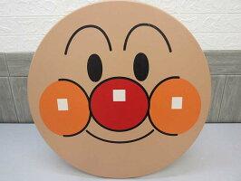 140【中古】アンパンマン顔テーブル木製ミニテーブル円形円卓座卓子供用直径56cm子供部屋18ヵ月以上ピノチオPiNOCCHio