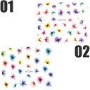 ネイルシール 水彩風 花 フラワー 選べる12種類♪
