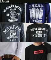 長袖Tシャツ,メンズ,アメカジ,ロンT,カレッジ,ロゴ,プリント