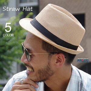 1000円 ハット 中折れ ストローハット コンパクトデザイン メンズ レディース 麦わら帽子 ペーパー ハット 麦わら帽 紫外線対策 UV対策 熱中症対策 春 夏 帽子