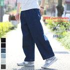 ワイドパンツメンズデニムパンツワイドデニムパンツビッグシルエット韓国ファッション大きいサイズジーンズ