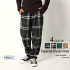 チェックパンツメンズテーパードイージーパンツウェストゴム紐トラッドメンズファッション韓国ファッションカジュアルウェア