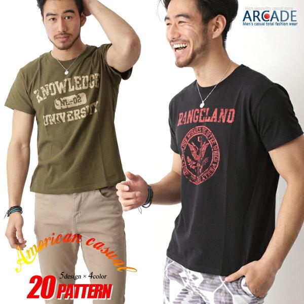 2枚目半額   Tシャツメンズ半袖tシャツアメカジtシャツメンズファッション夏tシャツカレッジロゴメンズトップスカットソーおし