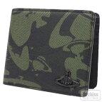 カーキオーブカモフラ柄ウォーターORBシリーズ立体オーブ付き2折財布