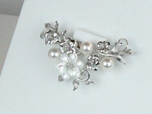 ★お姫様の真珠★2wayあこや真珠ブローチペンダント