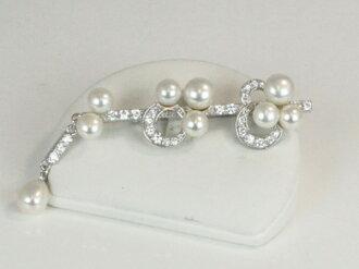 Pearl Pearl brooch freshwater pearls Pearl silver brooch, ladies, mail order, Pearl Pearl Moonstone