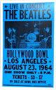 伝説のポスターレプリカ★THE BEATLES HOLLYWOOD BOWL LOS ANGELS 1964★ビートルズ・ハリウッドボウル1964
