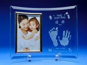 Baby誕生手形足型フォトフレームL