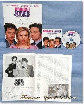 【映画パンフレット】 ブリジット・ジョーンズの日記 きれそうなわたしの12か月 (レニー・ゼルウィガー) /アメリカ 英語版 希少 レアグッズ 【中古】