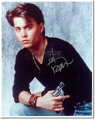 ◆ジョニーの出世作!◆[直筆サイン入写真] ジョニー・デップ Johnny Depp (ドラマ 21ジャンプ...