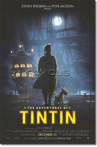 タンタンの冒険 ユニコーン号の秘密 (ジェイミー・ベル) /公開日入り ADV-DS