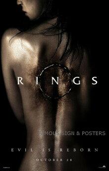 【映画ポスター】リングスRINGSF・ハビエル・グティエレス/ホラーインテリアアートフレームなし/ADV両面