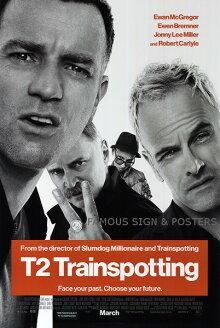 【映画ポスター】T2トレインスポッティングT2Trainspotting/おしゃれインテリアアートフレームなし/REG両面