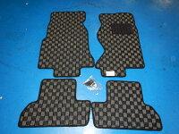 オリジナル/FD3S用チェック柄(黒×グレー)フロアマット一式