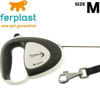 レビューを書いて送料無料犬猫用伸縮リードフリッピーテックMコード5m灰Fa5068
