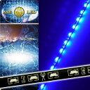 送料無料 60連LEDテープ60cm 側面発光LEDテープブルー1本 両...