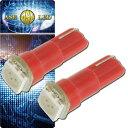 送料無料 バイク用LEDバルブT5レッド2個 3chip内蔵SMD T5 LED バルブメーター球 高輝度T5 LED バルブ メ...