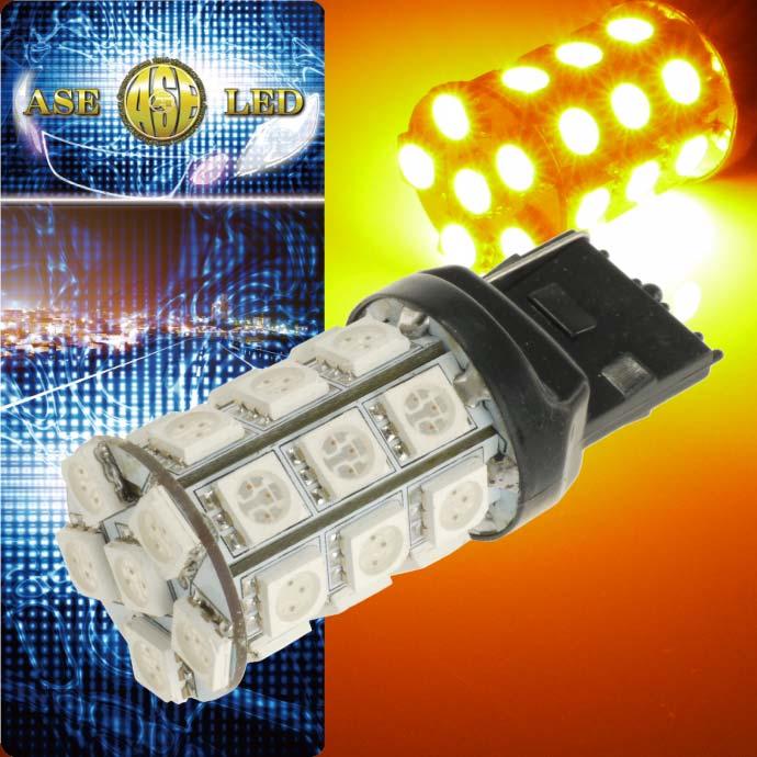 送料無料 デイズ ウインカー T20シングル球 27連 LED アンバー 1個 DAYZ/ハイウェイスター H25.6〜 B21W リア ウインカー球 as54画像