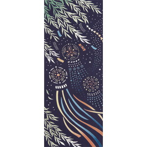 [Free shipping on 2 or more pieces] [Miyamoto] kenema -Kenema- Note dyeing hand towel Tanabata Tanabata star decoration [Made in Japan] Handmade mask prevention measures [NEW201704]