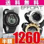 EFFORTLCDデジタルウォッチサイド部にはクリアケースを使用個性あふれるデザインのBIGフェイス腕時計クロノグラフカレンダーアラーム機能搭載FI-21001エフォートメンズレディースあす楽対応