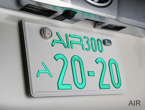 【送料無料】 AIR エアー 字光式ナンバー 光るナンバー 2枚SET 車検対応 即納 ナンバープレート LEDナンバープレート 極薄【別売】フレーム追加可能画像