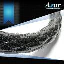 [Azur アズール] ハンドルカバー ふそう NEWファイター(H11.4〜) ラメブラック 2HSサイズ(外径約45〜46cm)納期2週間前後