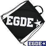 EGDE←ロゴナイロンナップサックBlack