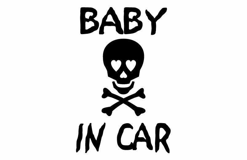 BABY IN CARドクロステッカーAタイプ