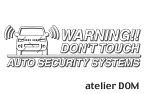 デリカD:5用セキュリティーステッカー3枚セット[ゆうパケット送料無料]アトリエDOMオリジナル[職人手作り]